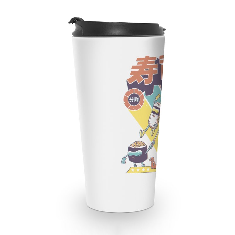 Sushi Sentai Accessories Travel Mug by Vincent Trinidad Art