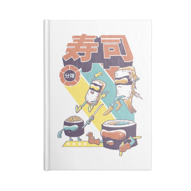 Sushi Sentai Accessories Blank Journal Notebook by Vincent Trinidad Art