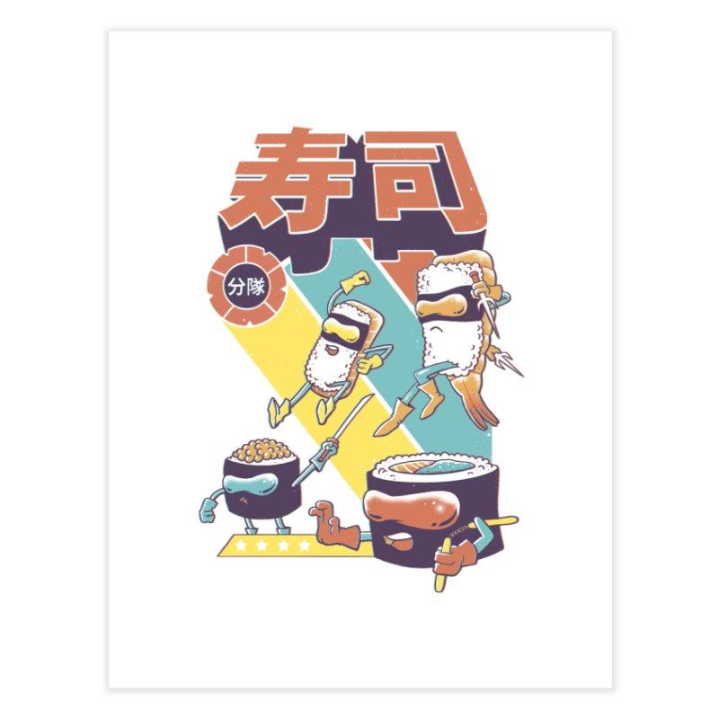 Sushi Sentai Home Fine Art Print by Vincent Trinidad Art