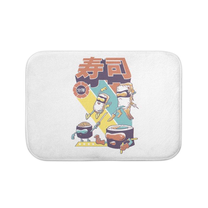 Sushi Sentai Home Bath Mat by Vincent Trinidad Art