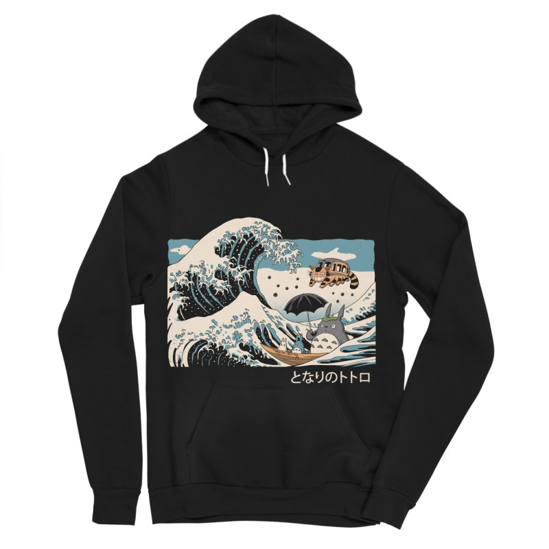 The Great Wave of Spirits Women's Sponge Fleece Pullover Hoody by Vincent Trinidad Art