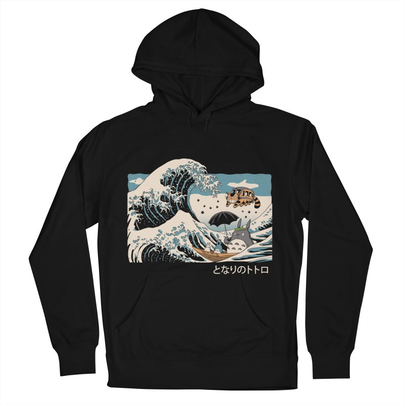 The Great Wave of Spirits Men's French Terry Pullover Hoody by Vincent Trinidad Art