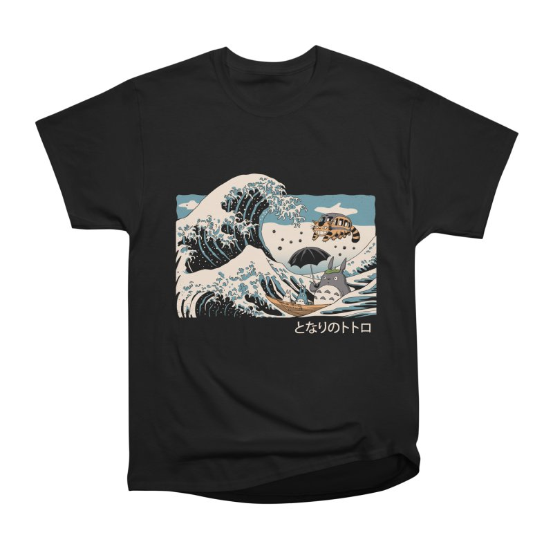 The Great Wave of Spirits Women's Heavyweight Unisex T-Shirt by Vincent Trinidad Art