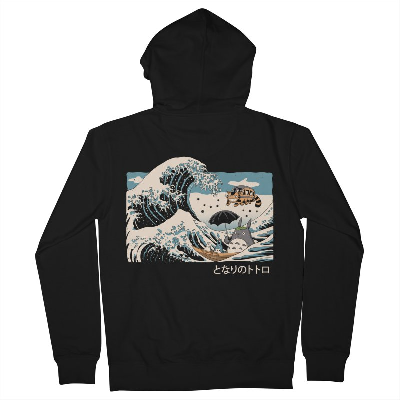The Great Wave of Spirits Men's French Terry Zip-Up Hoody by Vincent Trinidad Art