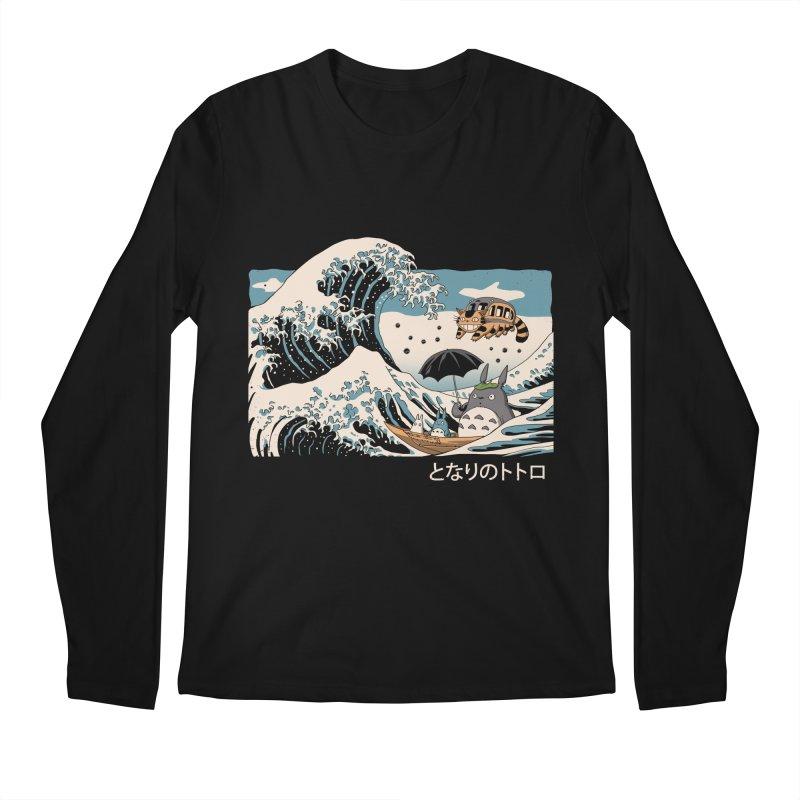 The Great Wave of Spirits Men's Regular Longsleeve T-Shirt by Vincent Trinidad Art