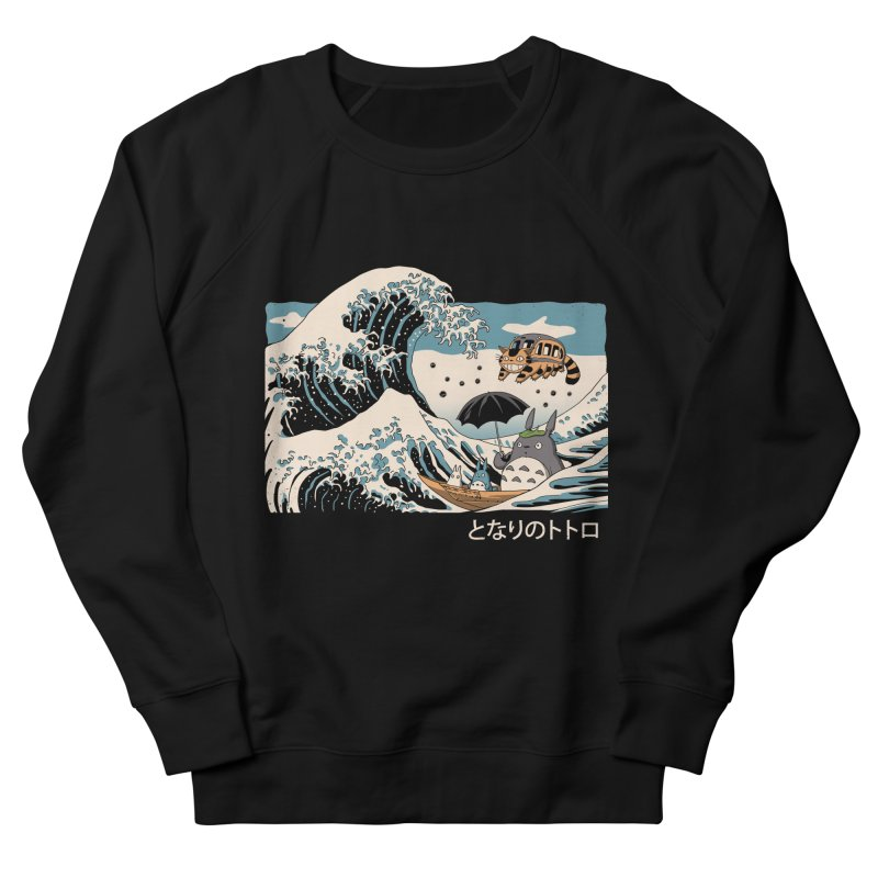 The Great Wave of Spirits Men's French Terry Sweatshirt by Vincent Trinidad Art