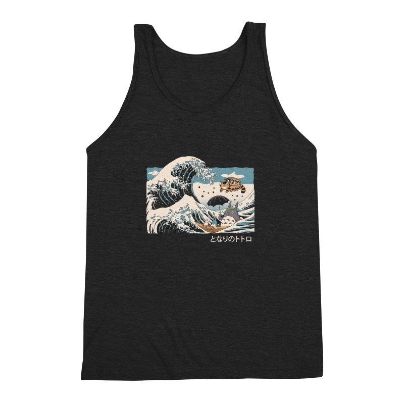 The Great Wave of Spirits Men's Triblend Tank by Vincent Trinidad Art