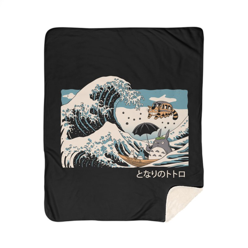 The Great Wave of Spirits Home Sherpa Blanket Blanket by Vincent Trinidad Art
