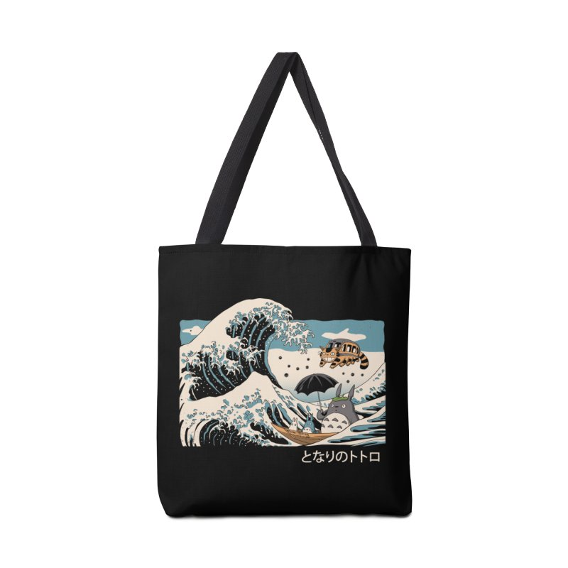 The Great Wave of Spirits Accessories Tote Bag Bag by Vincent Trinidad Art