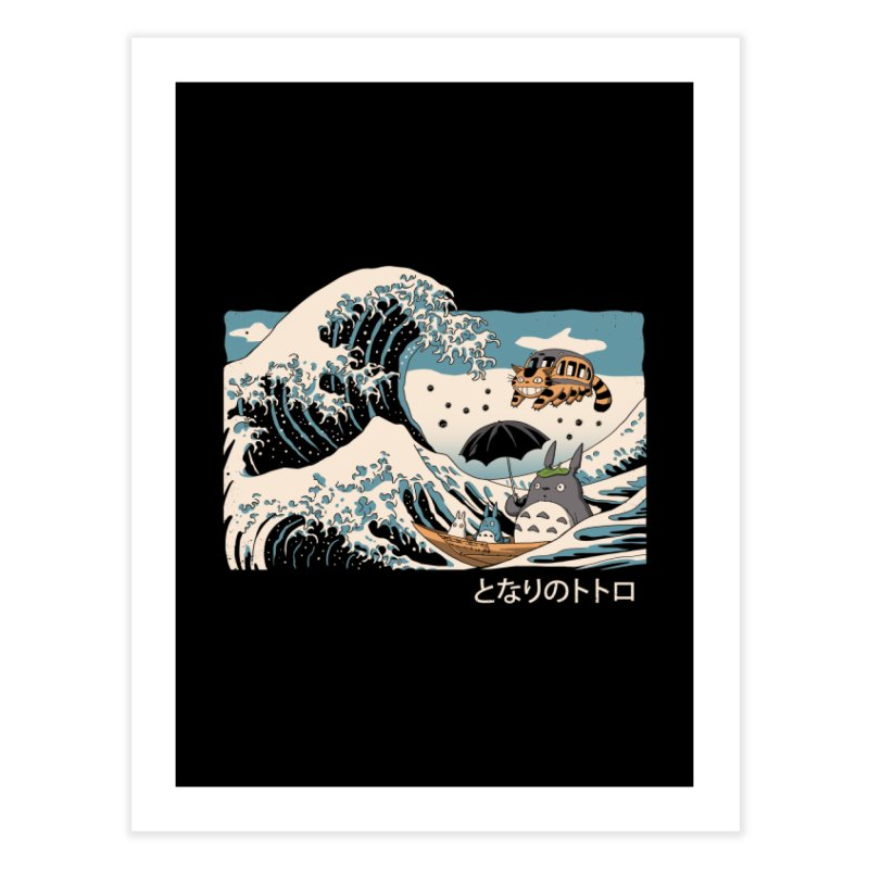 The Great Wave of Spirits Home Fine Art Print by Vincent Trinidad Art