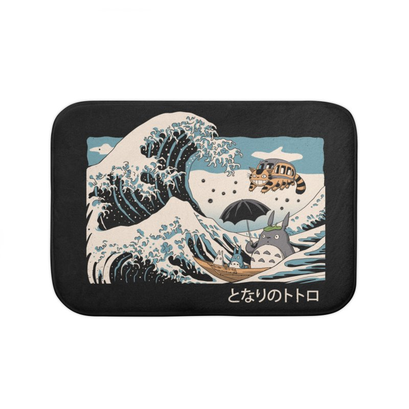 The Great Wave of Spirits Home Bath Mat by Vincent Trinidad Art