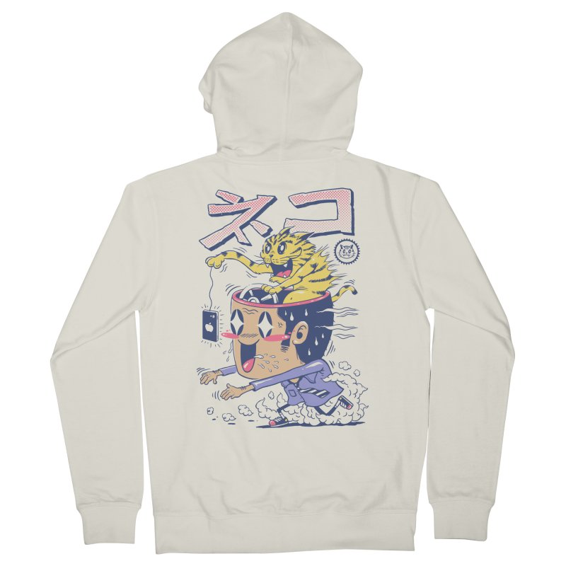 Cat Rod Men's French Terry Zip-Up Hoody by Vincent Trinidad Art