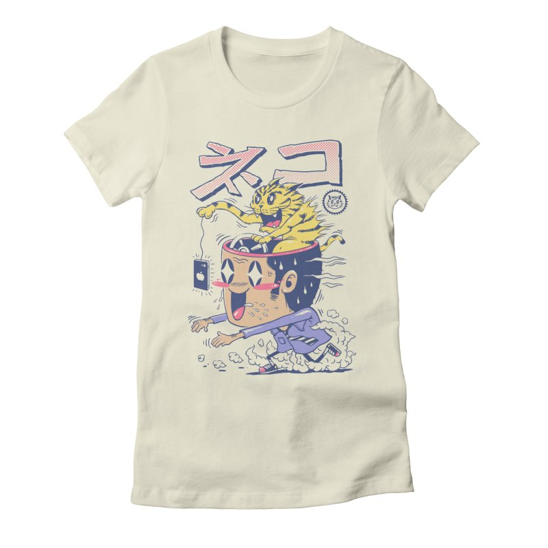 Cat Rod Women's Fitted T-Shirt by Vincent Trinidad Art