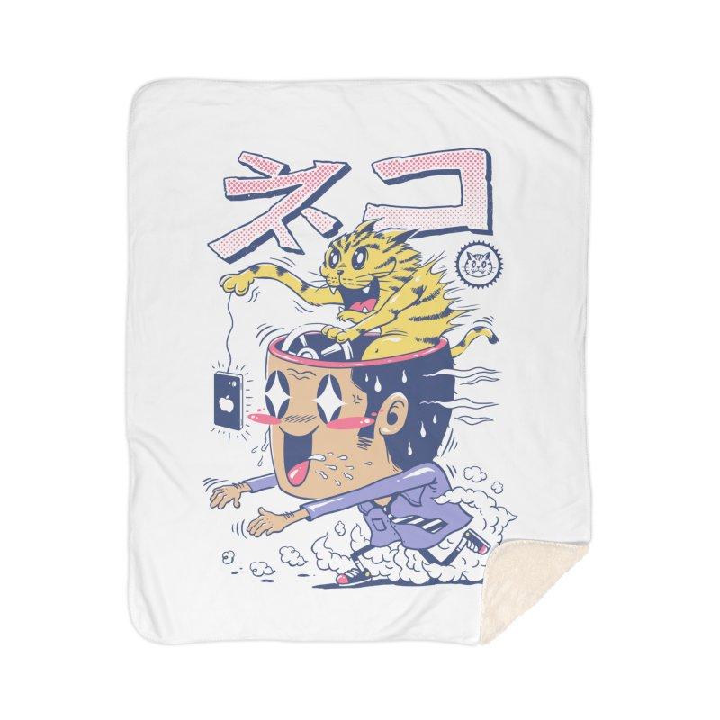 Cat Rod Home Sherpa Blanket Blanket by Vincent Trinidad Art
