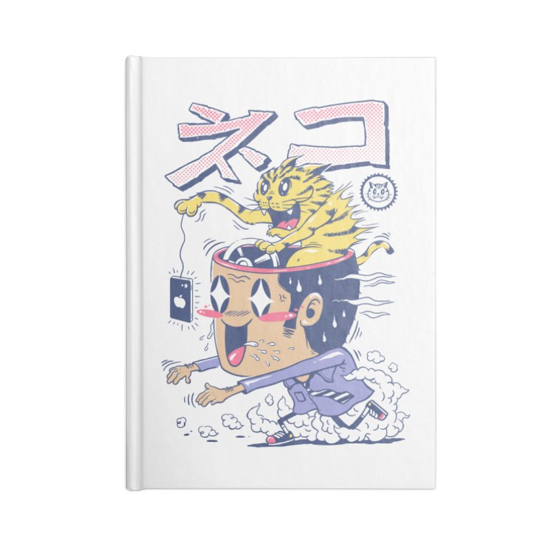 Cat Rod Accessories Blank Journal Notebook by Vincent Trinidad Art