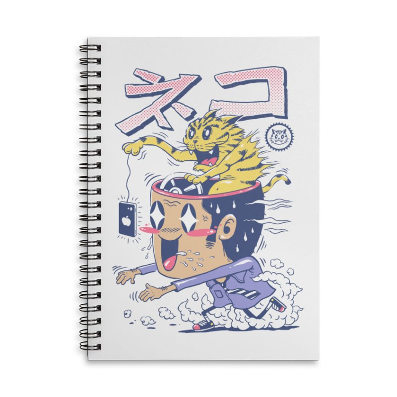 Cat Rod Accessories Lined Spiral Notebook by Vincent Trinidad Art