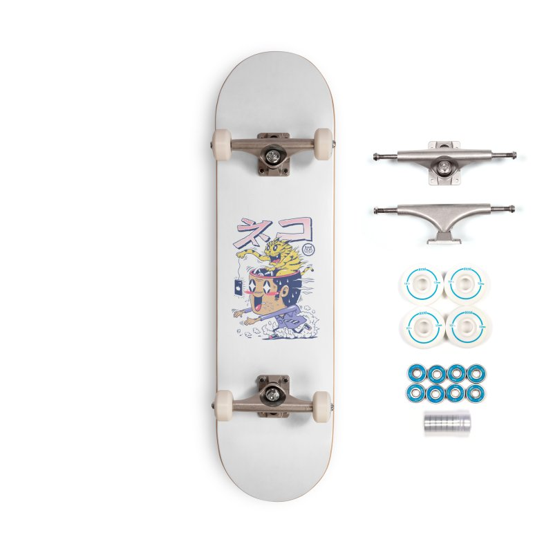 Cat Rod Accessories Complete - Basic Skateboard by Vincent Trinidad Art