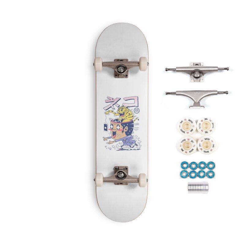 Cat Rod Accessories Complete - Premium Skateboard by Vincent Trinidad Art