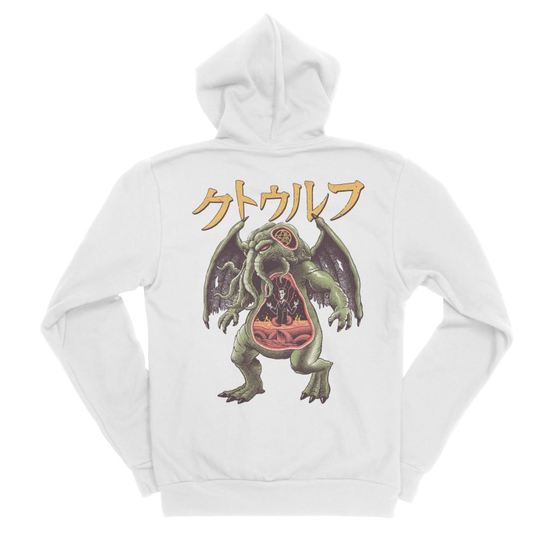 Kaiju Cthulhu Men's Sponge Fleece Zip-Up Hoody by Vincent Trinidad Art