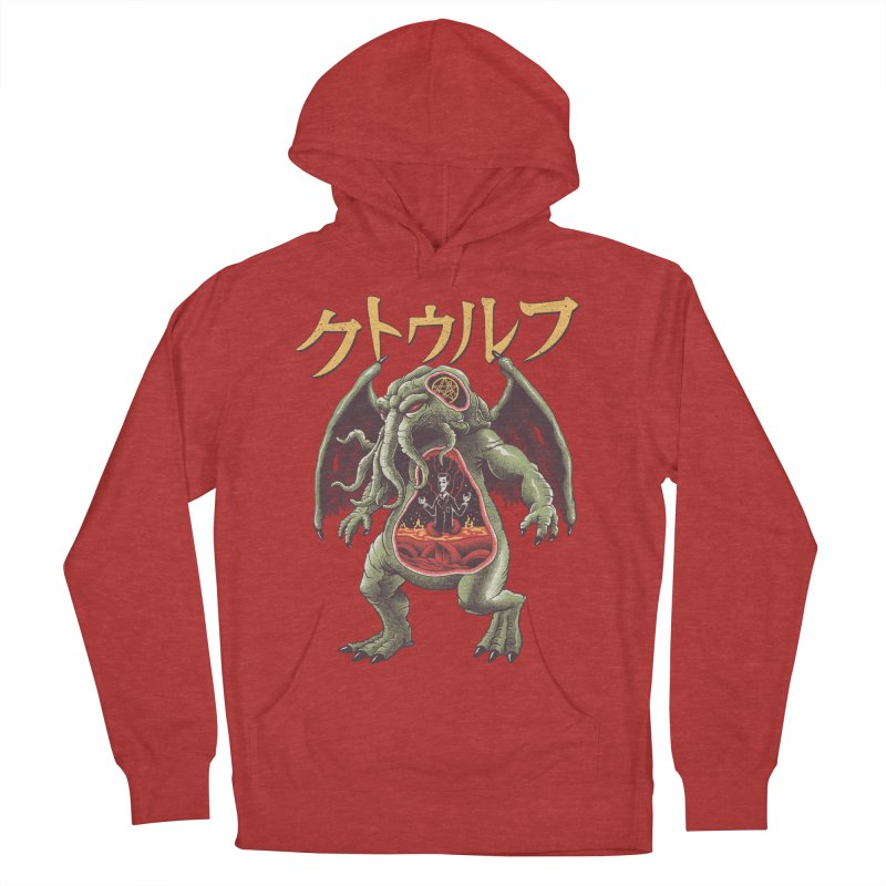 Kaiju Cthulhu Women's French Terry Pullover Hoody by Vincent Trinidad Art