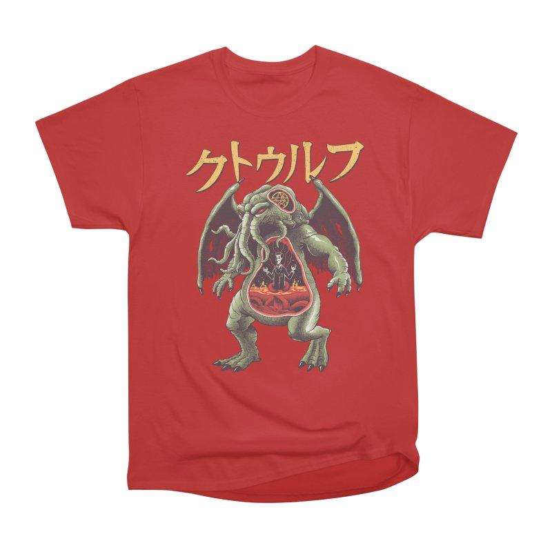 Kaiju Cthulhu Men's Heavyweight T-Shirt by Vincent Trinidad Art