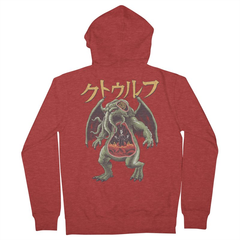 Kaiju Cthulhu Men's French Terry Zip-Up Hoody by Vincent Trinidad Art