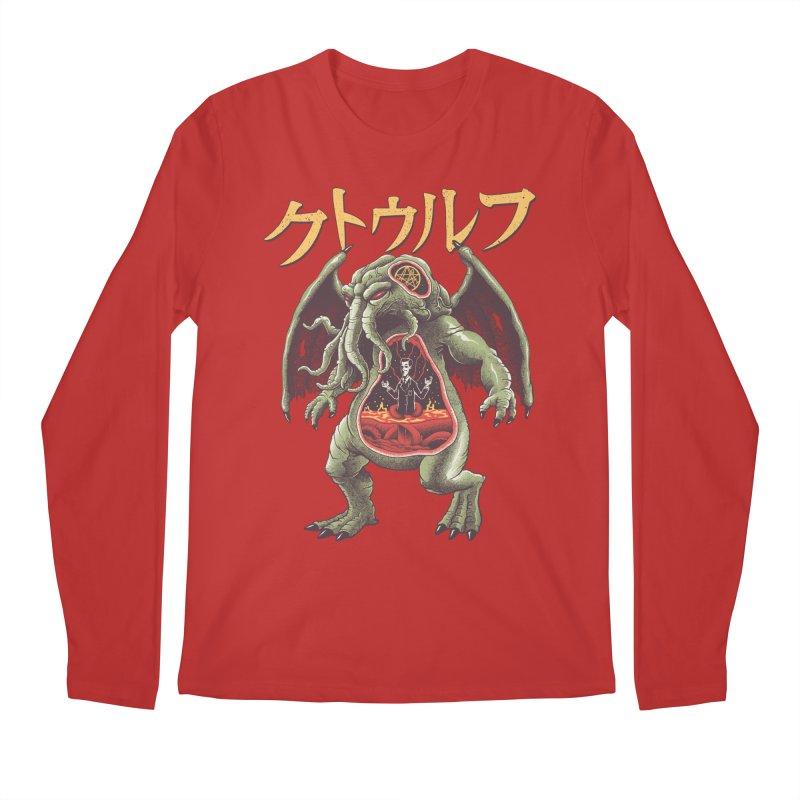 Kaiju Cthulhu Men's Regular Longsleeve T-Shirt by Vincent Trinidad Art