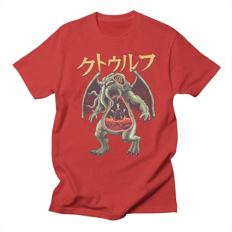 Kaiju Cthulhu Men's Regular T-Shirt by Vincent Trinidad Art