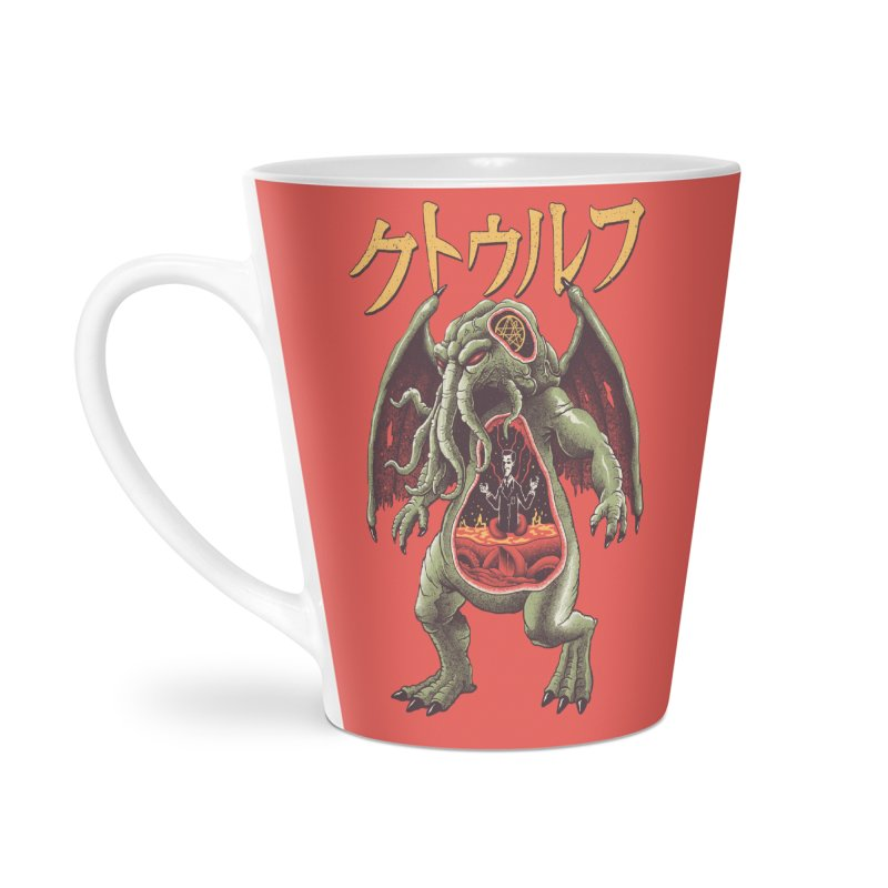 Kaiju Cthulhu Accessories Latte Mug by Vincent Trinidad Art