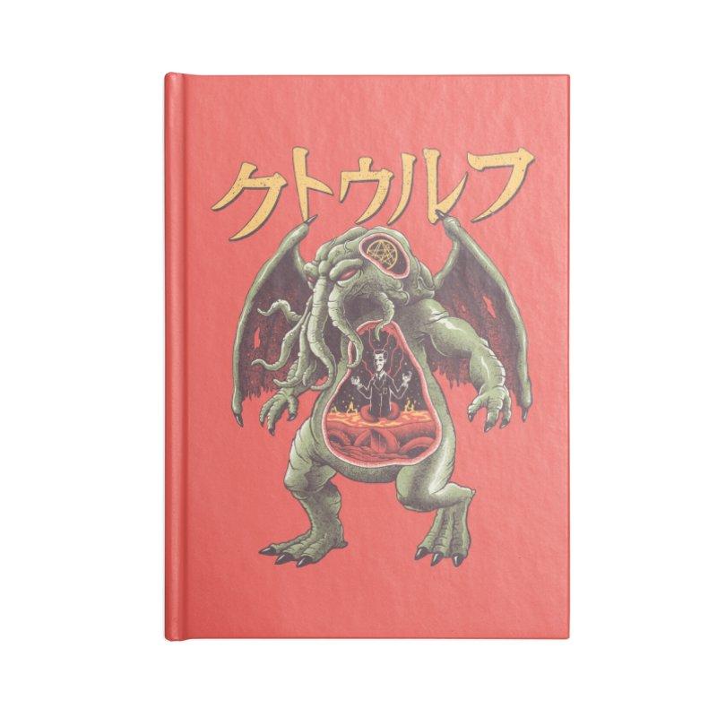 Kaiju Cthulhu Accessories Blank Journal Notebook by Vincent Trinidad Art
