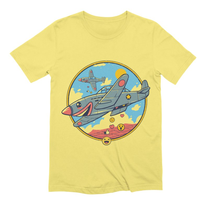 Kamikaze Likes and Smiles Men's Extra Soft T-Shirt by Vincent Trinidad Art