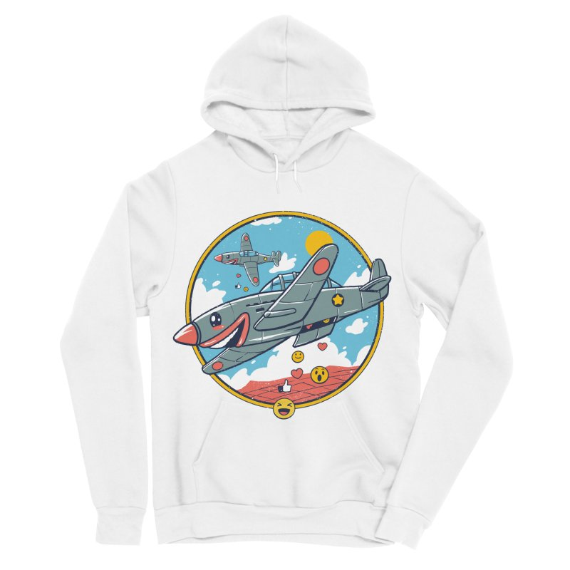 Kamikaze Likes and Smiles Women's Sponge Fleece Pullover Hoody by Vincent Trinidad Art