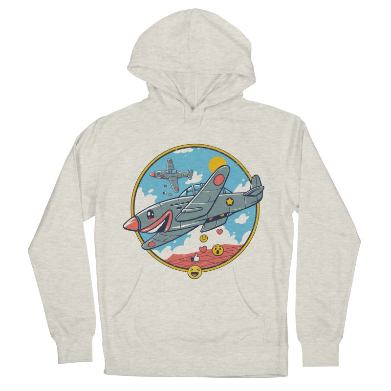 Kamikaze Likes and Smiles Women's French Terry Pullover Hoody by Vincent Trinidad Art
