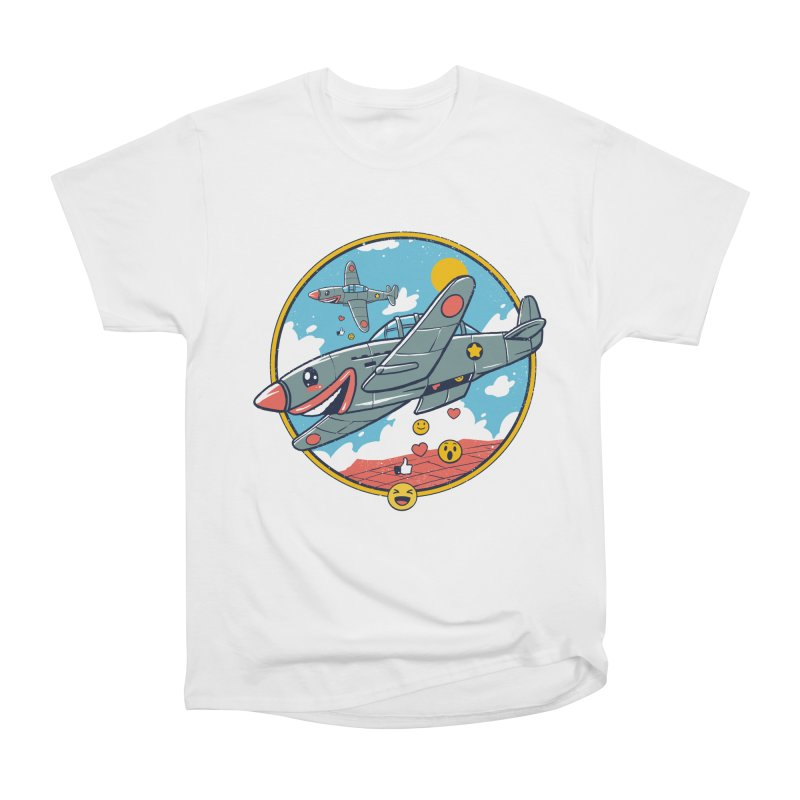 Kamikaze Likes and Smiles Men's Heavyweight T-Shirt by Vincent Trinidad Art