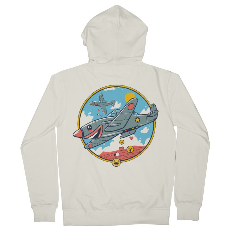 Kamikaze Likes and Smiles Women's French Terry Zip-Up Hoody by Vincent Trinidad Art