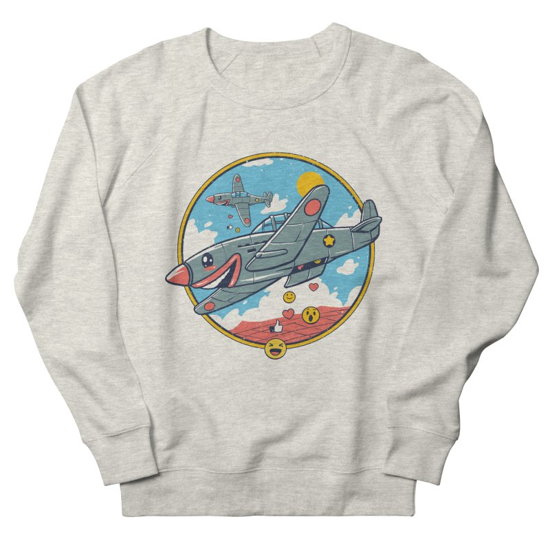 Kamikaze Likes and Smiles Women's French Terry Sweatshirt by Vincent Trinidad Art