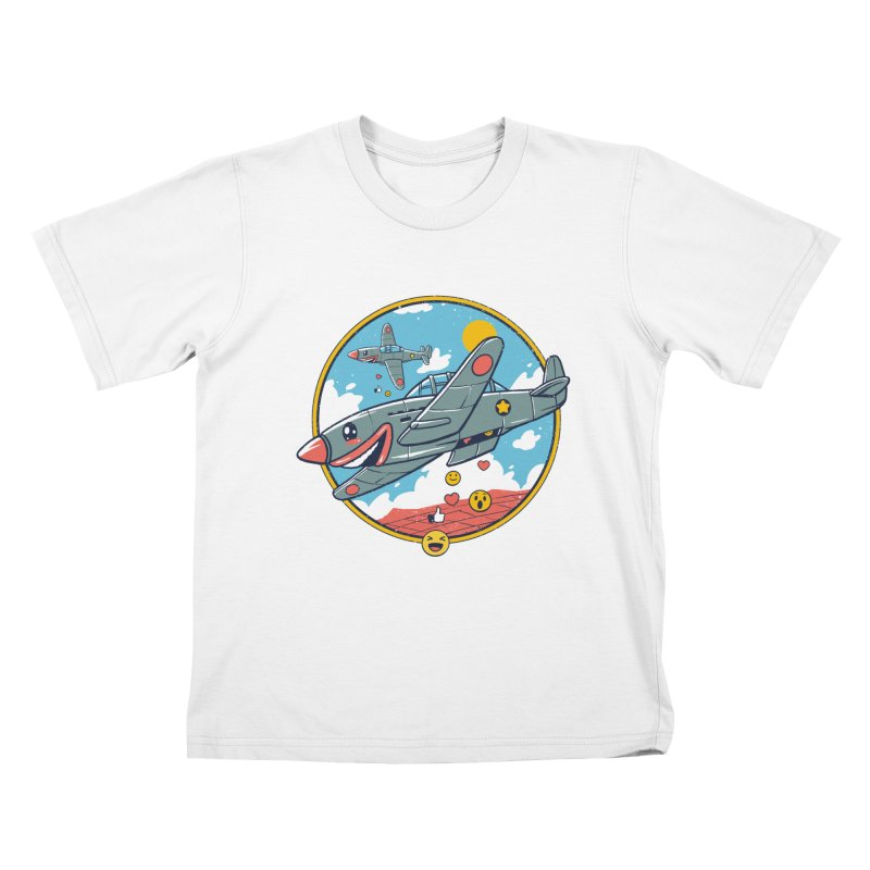 Kamikaze Likes and Smiles Kids T-Shirt by Vincent Trinidad Art