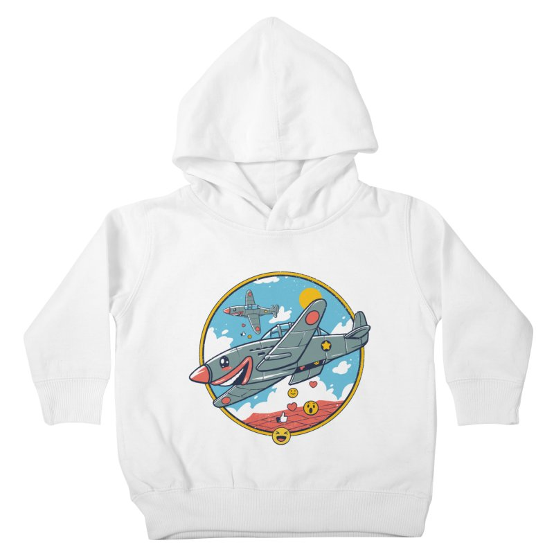Kamikaze Likes and Smiles Kids Toddler Pullover Hoody by Vincent Trinidad Art