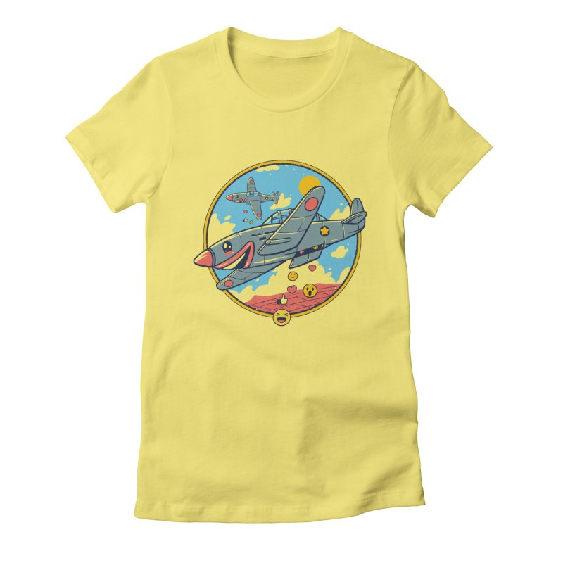 Kamikaze Likes and Smiles Women's Fitted T-Shirt by Vincent Trinidad Art