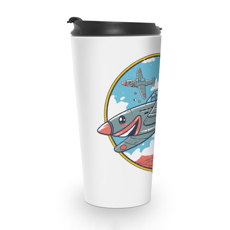 Kamikaze Likes and Smiles Accessories Travel Mug by Vincent Trinidad Art