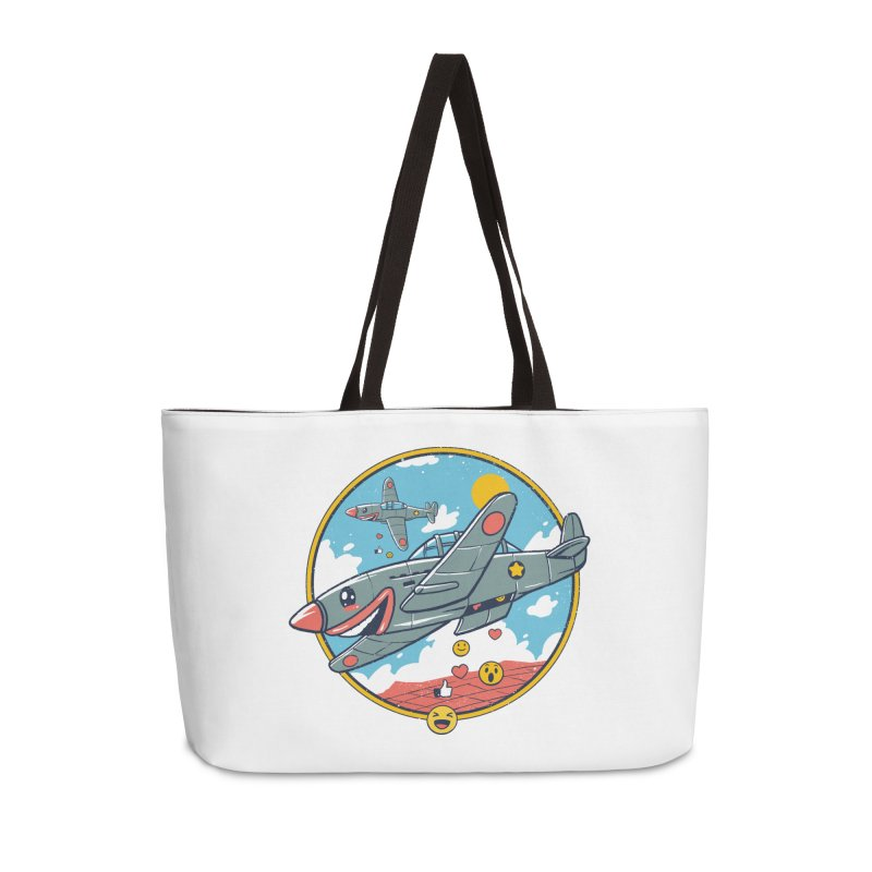 Kamikaze Likes and Smiles Accessories Weekender Bag Bag by Vincent Trinidad Art