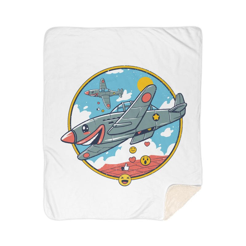 Kamikaze Likes and Smiles Home Sherpa Blanket Blanket by Vincent Trinidad Art