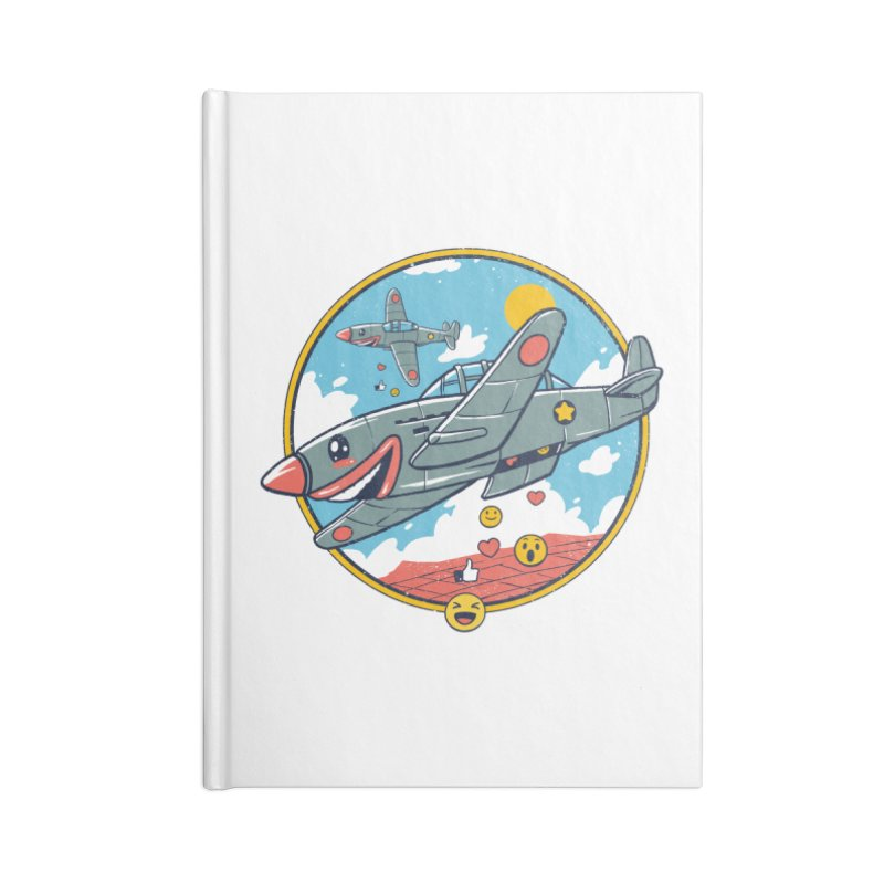 Kamikaze Likes and Smiles Accessories Blank Journal Notebook by Vincent Trinidad Art