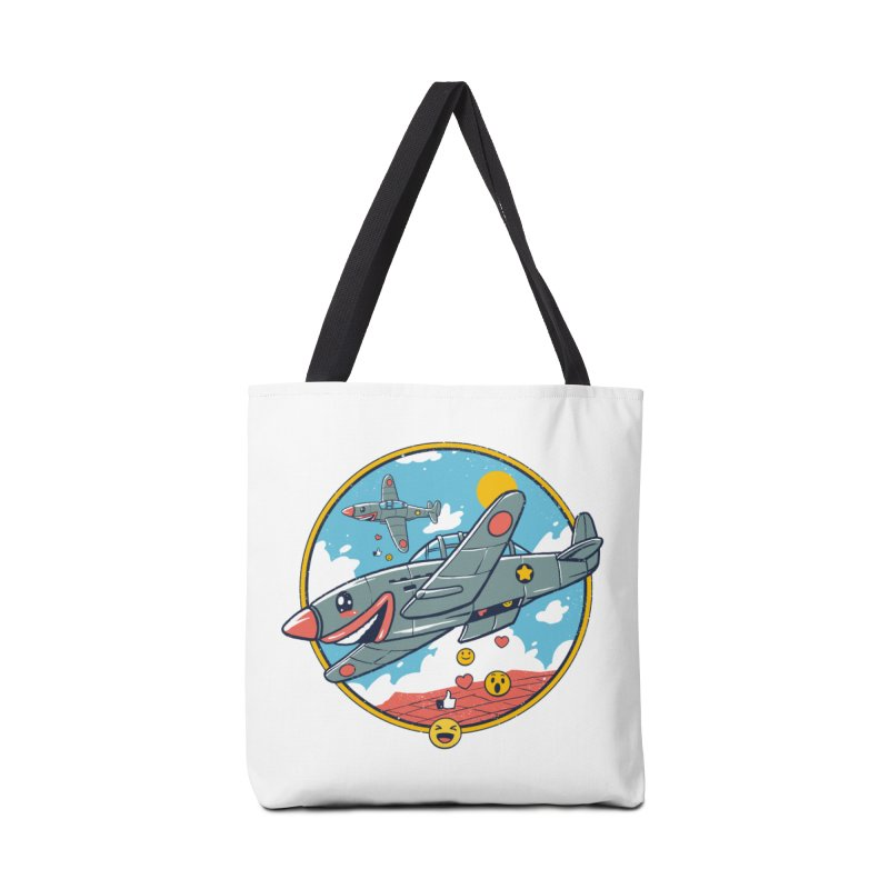 Kamikaze Likes and Smiles Accessories Tote Bag Bag by Vincent Trinidad Art