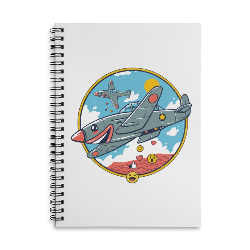 Kamikaze Likes and Smiles Accessories Lined Spiral Notebook by Vincent Trinidad Art