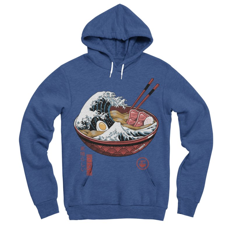 Great Ramen Wave White Women's Sponge Fleece Pullover Hoody by Vincent Trinidad Art
