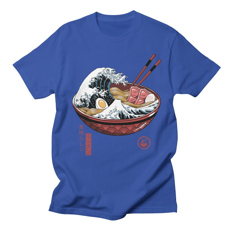 Great Ramen Wave White Men's Regular T-Shirt by Vincent Trinidad Art