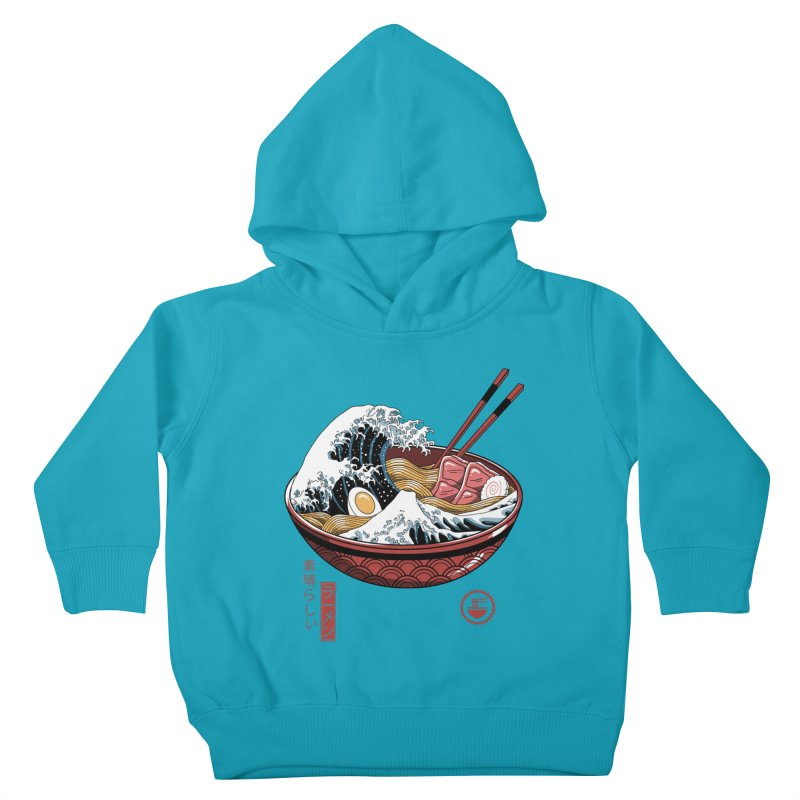 Great Ramen Wave White Kids Toddler Pullover Hoody by Vincent Trinidad Art