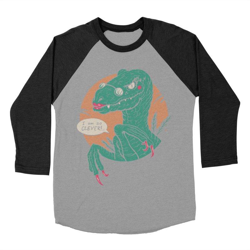 Clever Girl Women's Baseball Triblend Longsleeve T-Shirt by Vincent Trinidad Art