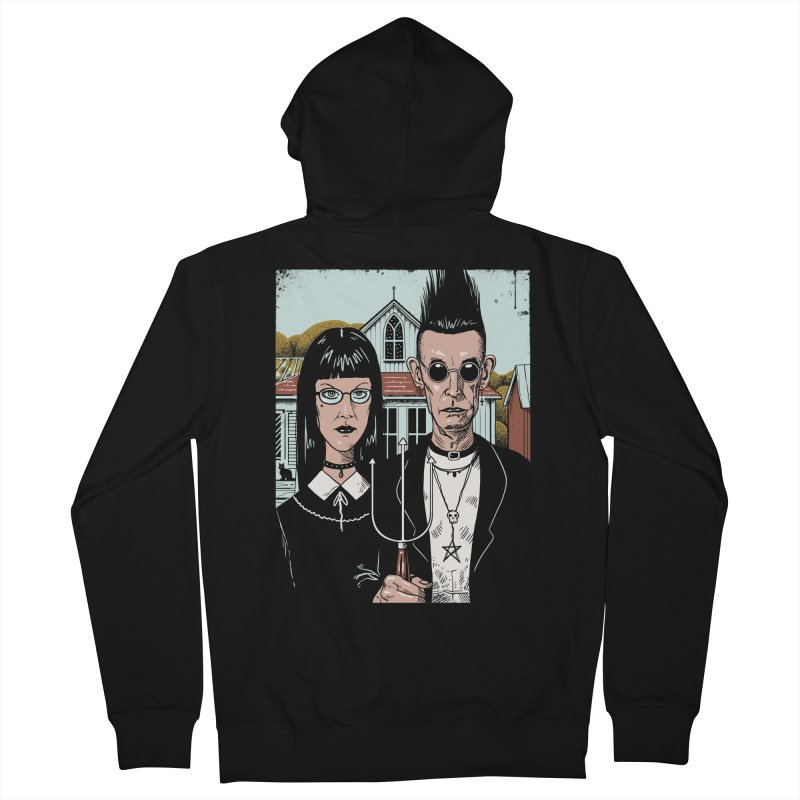 American Goth Men's French Terry Zip-Up Hoody by Vincent Trinidad Art